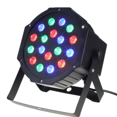 HESSION 24W 18 LEDs RGB Bar Light Stage Light - Black (US Plugs)