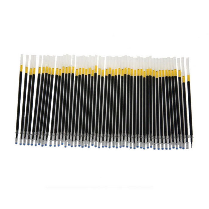 0.5mm Writing Gel Ink Stationery Needle Tube Refills - Black (100PCS)