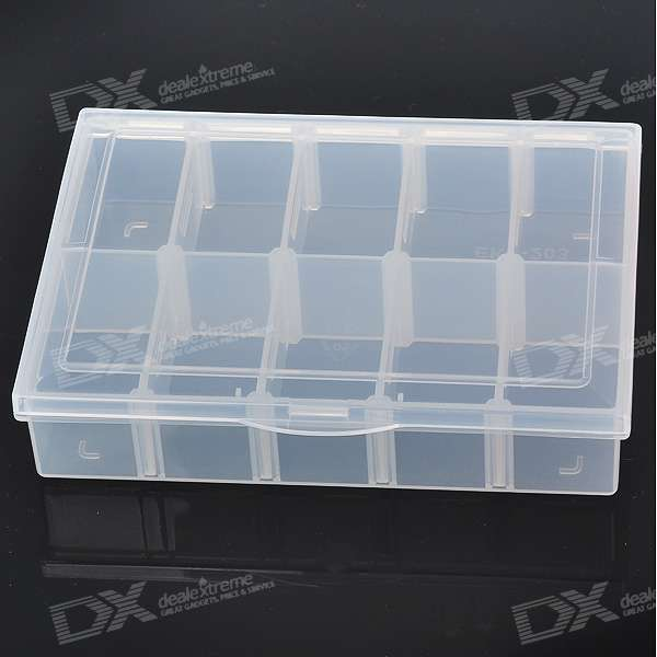 10-Section DIY Parts Storage Toolboxes (Translucent White)