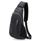 LION LOCAL recreativo oblicuamente solo bolso - negro ( 5L )