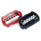 1-RT-08-1 5LED Taillight for Bike / Electric Bicycle Car - Red + Black