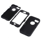 3 in1 Shockproof Combo Phone Case for IPHONE 5 - Black