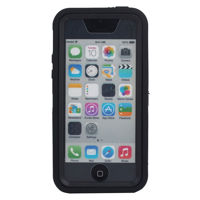 3 in1 Shockproof Combo Phone Cases for IPHONE 5C - Black