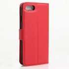 Litchi Grain Pattern Flip-Open Case for IPHONE 7 - Red