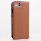 Litchi Grain Pattern Flip-Open Case for IPHONE 7 - Brown