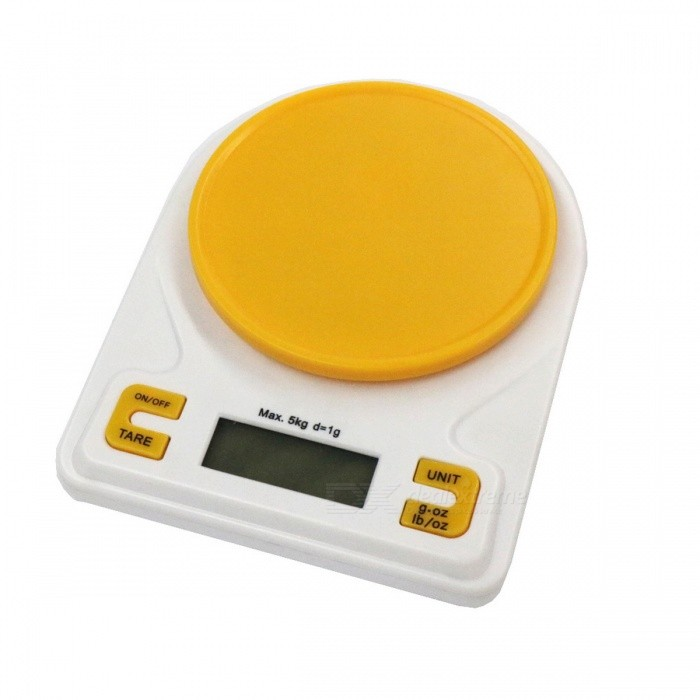 K001a precise 5kg 1g kitchen scale baking scale yellow for Kitchen scale for baking