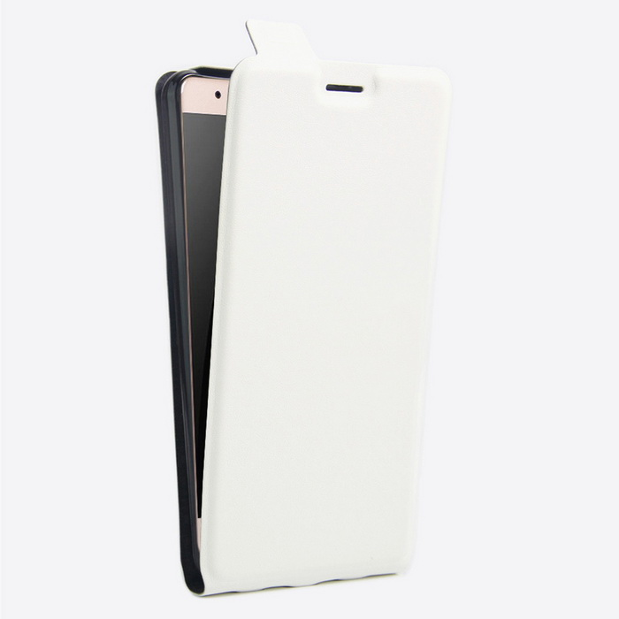 Litchi Pattern Up-Down Flip-Open Case for HUAWEI Honor V8 - White