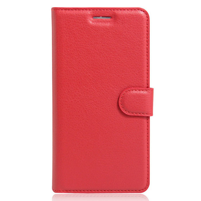 Litchi Grain Up-Down Flip-Open Case for IPHONE 7 Plus - Red