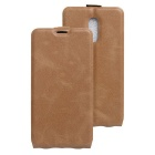 Flip-up Protective PU Leather Case Cover for Xiaomi Redmi Pro - Brown