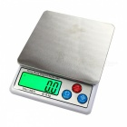 "MH-666  6kg/0.1g  2.5"" High Quality Kitchen Scale - White + Silver"