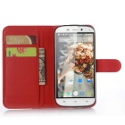 Lichee Pattern Protective Case for Doogee Y100x - Red