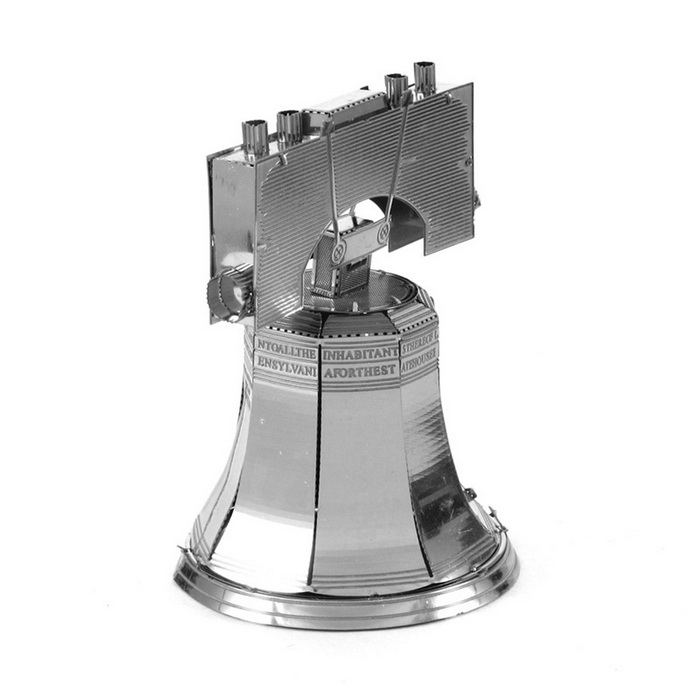 DIY 3D Puzzle Assembled Model Toy Liberty Bell - Silver