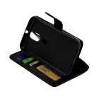 PU Leather Case w/ Holder Card Slot for Motorola Moto G4/Moto G4 Plus