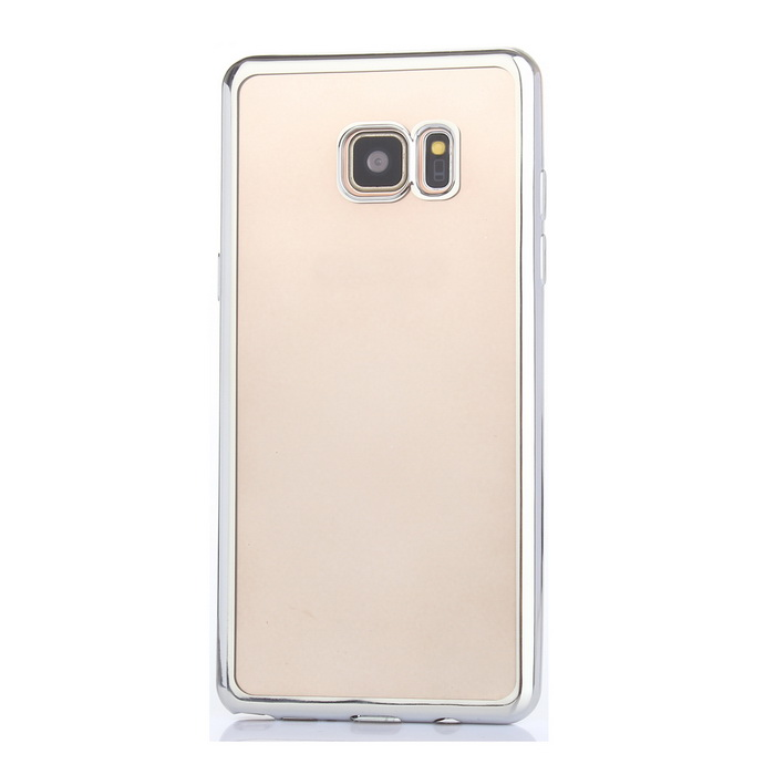 Electroplated Edge TPU Transparent Case for Samsung Note 7 - SilverTPU Cases<br>Form  ColorSilverModelASL-0998Quantity1 DX.PCM.Model.AttributeModel.UnitMaterialTPUShade Of ColorSilverCompatible ModelsSamsung Note 7DesignSolid ColorStyleBack CasesPacking List1 * Case<br>