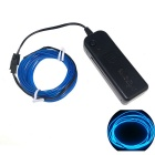 3M Flexible EL Wire Tube Rope Battery Powered Blue Light Lamp w/ Controller (Batteries not included)