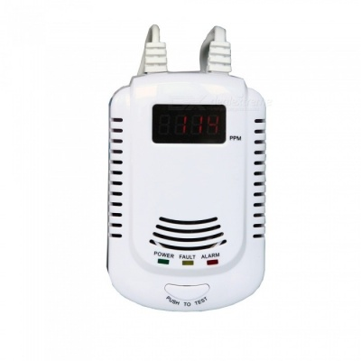AG-security DP-808 Sound Prompt LCD Dual Voltage Gas Detector Alarm