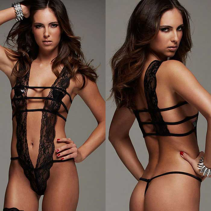 European / American Style Super Sexy Perspective Lingerie - Black