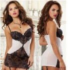 European / American Style Sexy Lace Lingerie - Black + White