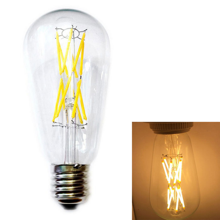 KWB E27 12W Warm White 12-LED Filament Bulb (AC 220~240V)