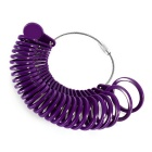 Plastic Ring Size Measuring Tool US Size 0~13 - Deep Purple