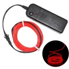 YouOkLight 3M Flexible Red Neon EL Wire Light Dance Party Decor Light