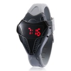 MAIKOU Cobra Head Style Red LED Digital Wrist Watch - Grey