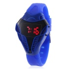 MAIKOU Cobra Head Style Red LED Digital Wrist Watch - Blue