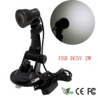 Mini Flexible USB LED 2W Suction Cup Light Computer Lamp for Notebook