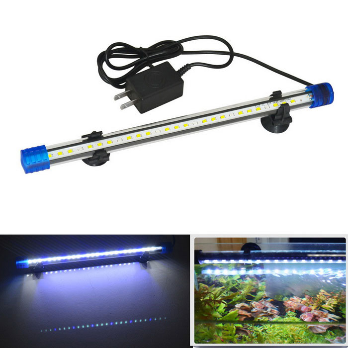 Jiawen 1.5W 30cm White + Blue Light 27-LED Aquarium Light (US Plugs)