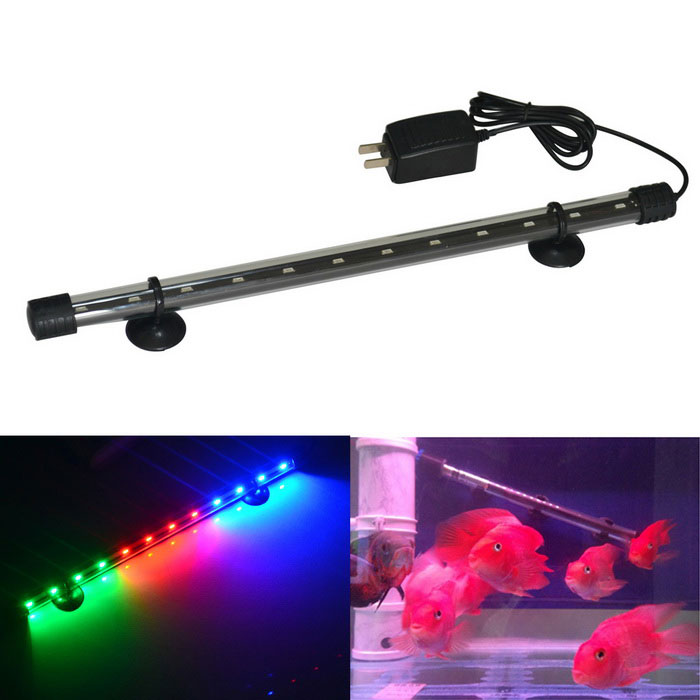 Jiawen 6W 40 centímetros luz colorida 12-LED Aquarium Light (plugs EUA)