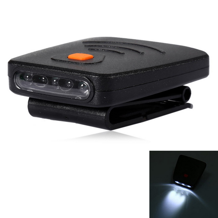 youoklight 3-LED de detección tapa de la luz recargable USB Clip-on - negro