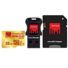 Strontium Nitro Plus SRP32GTFU1C 32GB Micro SD + Adaptor + Card reader