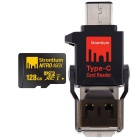 Strontium Nitro SRN128GTFU1P 128GB MicroSD with Type-C Card Reader