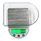 "MH-884 6kg/0.1g 3.5"" High-quality Kitchen Scale - White + Silver"