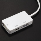 BSTUO 3 In 1 MINI DP Male To HDMI DVI VGA Converter Cable - White