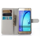 Lichee Pattern Protective Case for  Samsung Galaxy On7 / G6000 - White