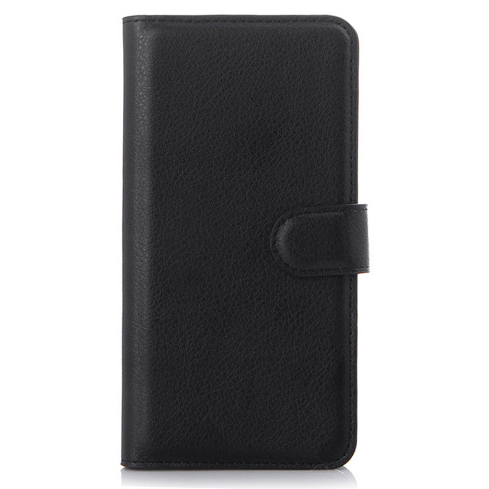 Retro Style Flip-Open PU Case for ASUS Zenfone 5 Lite - Black