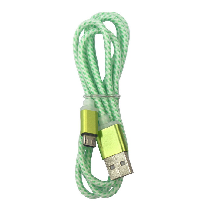 Micro USB to USB 5V 1.5A Charging Cable - Green (100cm)