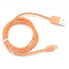 USB 3.1 Type C to USB 2.0 Charging Cable - Orange (100cm)
