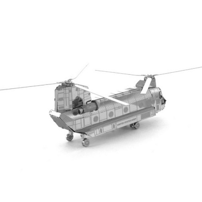 Plastic DIY 3D Puzzle Assembled Model Toy Chinook - Silver