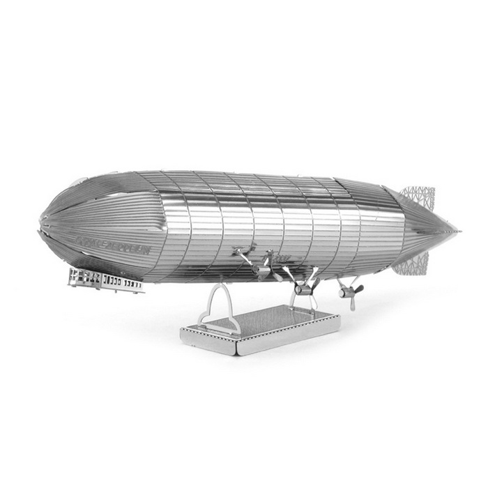 Free Plastic DIY 3D Puzzle Assembled Model Toy Zeppelin - Silver