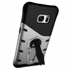 Protective TPU + PC Back Case w/ Holder Stand for Samsung Galaxy S7