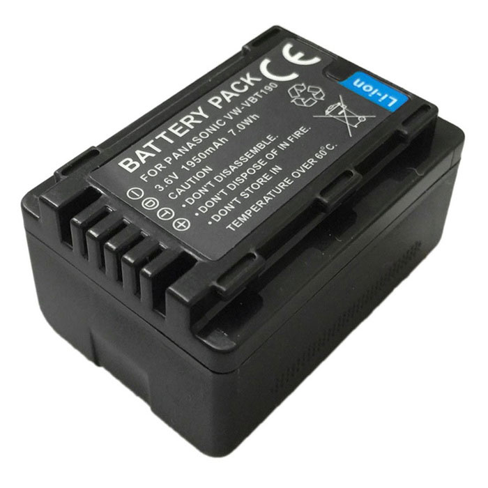 VBT190 3.6V 1950mAh Digital Camera Battery for Panasonic VBT190 V160