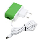 ES-D14 5V 2.4A USB Quick Charge Charger w/ Micro USB Connector -Green
