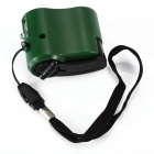 Hand-cranked Manual USB Emergency Charger - Green