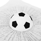 ZIQIAO Self Adhesive Football Ball Style Car Sticker - Black + White