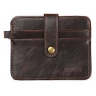 JIN BAO LAI Men's PU Leather Hasp Cards Holder Wallet - Dark Coffee
