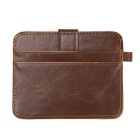 JIN BAO LAI Men's PU Leather Hasp Cards Holder Wallet - Coffee