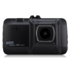 1080P Full HD 12MP 170' Wide Angle Car DVR Recorder Camera - Black