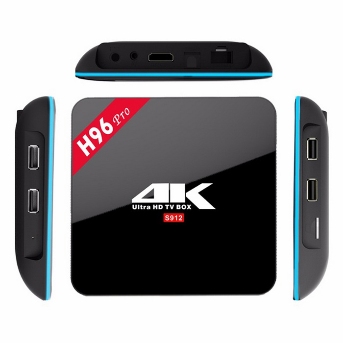 H96 PRO Amlogic S912 Octa-Core TV Box w/ 2GB DDR3, 16GB ROM (US Plugs)